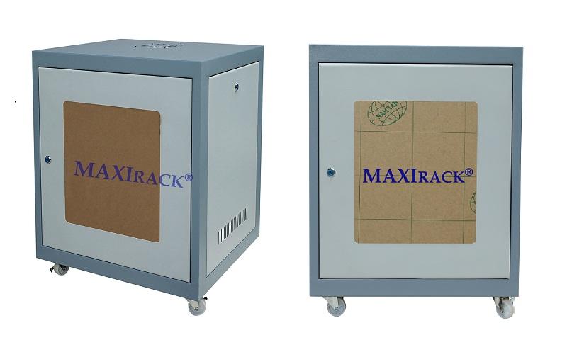 Thông số tủ mạng  Maxi Rack 12U cửa lưới - mica sâu D500 D600